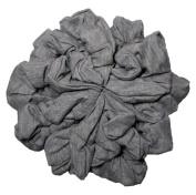 Grey scrunchie Set, Set of 10 Soft Heather Grey Cotton Scrunchies, Solid Colour Packs