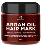 Argan Oil Hair Mask - Deep Conditioner with Organic Argan and Coconut Oil