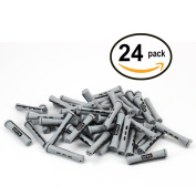 24 pc of COTU (R) Hair Perm Rods Short Size - Grey Colour