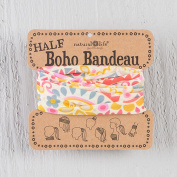 Natural Life Half Boho Bandeau Cream and Pink Geo Print