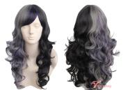 Women's Wig Long Wavy Halloween Costumes Cosplay Wig Ombre Purple Black