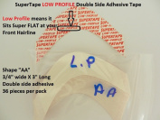 SuperTape Super Tape LOW PROFILE Shape AA = 1 pack of 36 strips