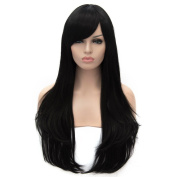 Max beauty Daily Cosplay Wig Long Straight Synthetic Women Hair Wigs Free Cap