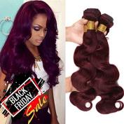 Top Hair Peruvian Virgin Human Hair Extension Red Wine 99j Body Wave Peruvian Hair Body Wave 1bundle 46cm 100g