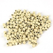 Blond 250 pcs 3mm Micro Rings Beads Locks For I Tip Stick Feather Human Hair Extensions