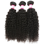 B & P Hair Malaysian Curly Hair 3 Bundles 7A Virgin Human Hair Extensions