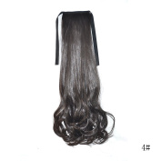 46cm 100g Curly Wavy Drawstring & Wrap Around on Synthetic Ponytail Hairpiece Clip in Ponytail Hair Extensions