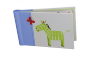 "Baby Photo Album 4 x 6 Brag Book ""Jungle Friends Boy"" - Baby Shower Gifts, - Holds 24 Precious Photos, Acid-free Pages"