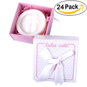 AiXiAng Handmade White Tutus Style Soap Favours with Pink Gift Packaging for Baby Girls Shower Decorations