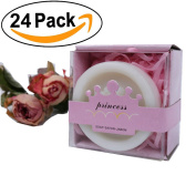 AiXiAng Handmade Crown Style Soap Favours with Pink Gift Packaging for Baby Shower Decorations