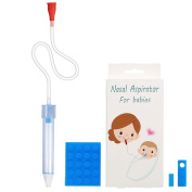 Premium Baby Nasal Aspirator,Removable and Replaceable Head,Hospital Grade Silicone Soft Silicone, Non-Irritation ,fast and Reusable