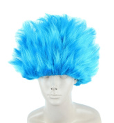 Topcosplay Blue Wig Short Straight Anime Cosplay Wigs Halloween Costume Wig for Kids Children