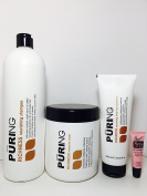 "Mx Puring Richness Nourishing Shampoo 33.8 Oz, Intensive Mask 33.8 Oz and Nourishing Rinse Free Conditioner ""Leave in"" 8.45 Oz ""Free Starry Lipgloss 10 Ml"""