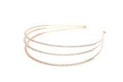 Venici Elegance Bridal Collection Tri-Accent Rhinestone Crystal Headband Hair Band Accessory