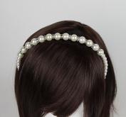 Venici Womens Faux Pearl & Rhinestone Great Gatsby Inspired Headband Hair Accessory