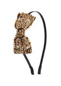Venici 1920's Flapper Great Gatsby Inspired Headband Hair Band Accessory w Beads & Rhinestones