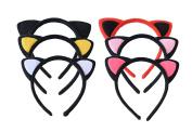 Yaslnn 6pcs/pack Baby Girls Women Fluffy Cat Ear Headband for Fancy Dress Party