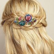 QueenMee Flower Hair Clip Rhinestone Hair Clip Crystal Hair Clip Flower Barrette Rhinestone Barrette Crystal Barrette Bridesmaid Hair Clip Hair Barrette