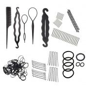 Mmrm Hair Styling Accessories Kit Set Hair Braid Tool for DIY Black