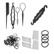 Mmrm Black Hair Styling Accessories Kit Set Hair Braid Tool for DIY