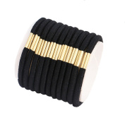 RoseSummer 20 Pcs Black Hair Elastics Hair Ties Hair Bands Bulk Ponytail Holders