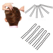 Wispun Women Girls Metal Thin U shape Hair Pins Hair Clips Bobby Pin 6cm (50/100pcs)
