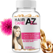 HairCare A2Z - (Most Complete Hair Growth vitamin) 29 Ingredients with Biotin - For Hair loss, Nails, Skin & lashes - Men & Women - Nourishes Hair with Vitamins to Help Its Regrowth - 60 Pills