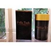 Follic Tech Hair Building Fibres Black 25 Grammes Plus 100 gramme Refill Bag 125 grammes total Highest Grade. Compare Competitors Like Toppik, Xfusion.
