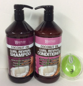 18 Actives coconut oil Curl shampoo & conditioner 33 fl oz/1000 ml each