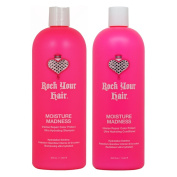 """Rock Your Hair Moisture Madness Shampoo & Conditioner 1000ml Duo """"Set"""""""