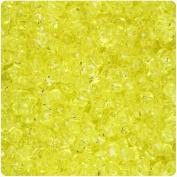 BEADTIN Yellow Transparent 11mm TriBead Craft Beads