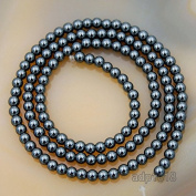 "AD Beads Natural Faceted & Smooth Metallic Hematite Round Gemstone Loose Beads 16"" 2mm 3mm 4mm 6mm 8mm 10mm (3mm, Natural Colour"
