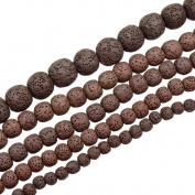 "AD Beads Lava Rock Semi Precious Gemstone Round Loose Beads 15.5"" 6mm 8mm 10mm 12mm 14mm"