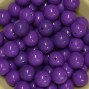 20mm Bulk package 50 PURPLE Solid Acrylic Chunky Bubblegum Beads Loose Gumball Beads Lot