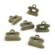 100 PCS Jewellery Making Charms Ancient Antique Bronze Fashion Jewellery Making Crafting Charms Findings Bulk for Bracelet Necklace Pendant A01501 Flatiron Iron
