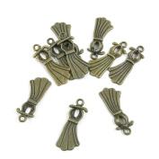 630 PCS Jewellery Making Charms Ancient Antique Bronze Fashion Jewellery Making Crafting Charms Findings Bulk for Bracelet Necklace Pendant A01298 Dress Skirt