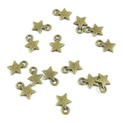180 PCS Jewellery Making Charms Ancient Antique Bronze Fashion Jewellery Making Crafting Charms Findings Bulk for Bracelet Necklace Pendant A01481 Five-pointed Star