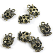 150 PCS Jewellery Making Charms Ancient Antique Bronze Fashion Jewellery Making Crafting Charms Findings Bulk for Bracelet Necklace Pendant A02024 Hollow Owl