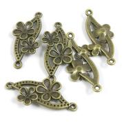 290 PCS Jewellery Making Charms Ancient Antique Bronze Fashion Jewellery Making Crafting Charms Findings Bulk for Bracelet Necklace Pendant A00936 Cherry Blossoms Connector