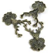 10 PCS Jewellery Making Charms Ancient Antique Bronze Fashion Jewellery Making Crafting Charms Findings Bulk for Bracelet Necklace Pendant A01178 Deer Buck