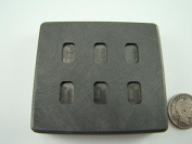 1 Gramme x 6 High Density Graphite Gold Bar Mould 6-Cavities - 1/2 Gramme Silver Bar Made in the USA