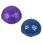 Balance Pods, PeleusTech 2Pcs Hedgehog Balancing Pods Domed Stability Pods 16cm/6.3inch for Children and Adults - Blue and Purple