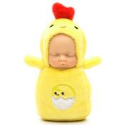 KINGSEVEN Adorable Mini Baby Dolls Keychain Sleeping Newborn Doll Little Plush Toy