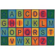 Kids Value Rugs Simple Alphabet Blocks Kids Rug