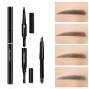 3-in-1 Eyebrow Pencil Soft Smooth Eyebrow Powder Natural Durable Waterproof Eyebrows for Makeup Beginner