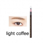5PCS Light Coffee Eyebrow Pencil Enhancer Defining Beauty Eye brow Eyeliner Pen Makeup Tools Cosmetic Accessories