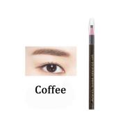 5PCS Coffee Eyebrow Pencil Enhancer Defining Beauty Eye brow Eyeliner Pen Makeup Tools Cosmetic Accessories