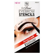 Ruby Kisses Go Brow Eyebrow Stencils (2 Stencils in 1 Pack)