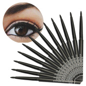 Baomabao 12PCS Makeup Black Eye Liner Pencil Waterproof Liquid Beauty Comestics Eyeliner
