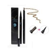 Waterproof Automatic Eyeliner & Eyebrow pencil Long-lasting Eyeliner double head makeup cosmetic tools Black-1#